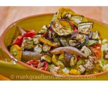 Reste-Essen: Mediterranes Ofengemüse auf Couscous