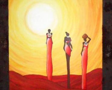 Afrikanische Frauen in Acryl