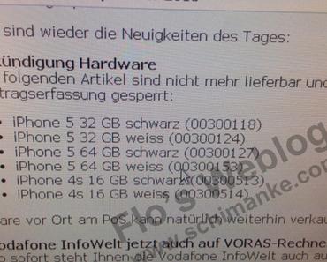 Vodafone bestätigt Wegfall von iPhone 5
