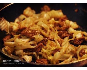 Rezept: Fried Gluten Gyudon-inspiriert mit Weisskohl