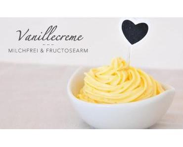 Vanillecreme für Kuchen und Muffins milchfrei & fructosearm