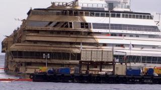 Update: Der Bergung und Aufrichtung der Costa Concordia ist gelungen - Livestream und Video