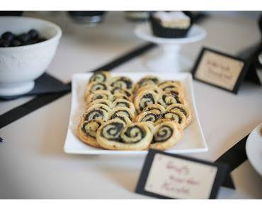 sweet table: Blätterteigschnecken mit Tapenade