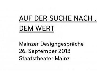 MAINZER DESIGNGESPRÄCHE 2013