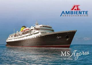 Pressemeldung: AMBIENTE Kreuzfahrten präsentiert neues Hochsee-Programm ab März 2014: MS Azores (ehemalige MS Athena), maritim & persönlich.