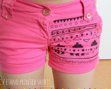 Aztec / ethno printed summershorts - doityourself
