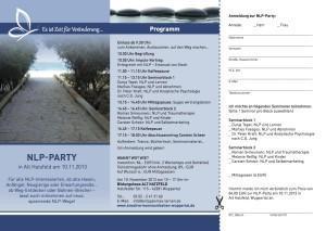 Die NLP Party steigt!