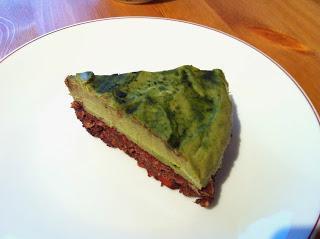 Roh-Vegane Matchacreme-Tarte