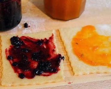 Germteig Schicht-Kuchen mit Marmelade und Walnüssen