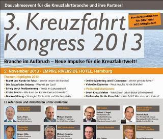 """Kreuzfahrt Kongress 2013 - Verleihung """"Kreuzfahrt Guide Award 2013"""""""