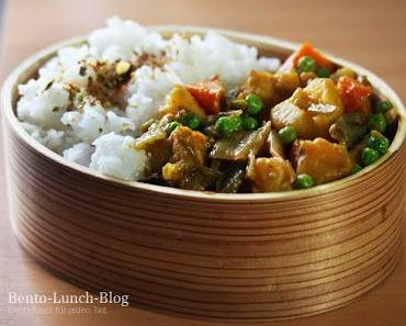 Bento #141: Geschmortes Gemüse mit Senfkohl