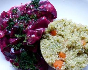 Quinoa-Risotto mit Rote-Bete-Gemüse