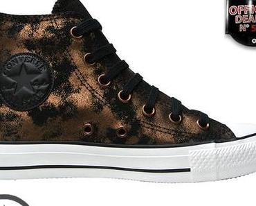 #Converse Chucks All Star Chuck Taylor Sneakers 540369 BLACK GOLD LEATHER