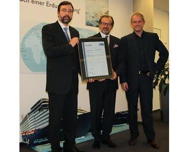TUI Cruises erhält Zertifizierung nach höchsten Qualitäts- und Umweltstandards