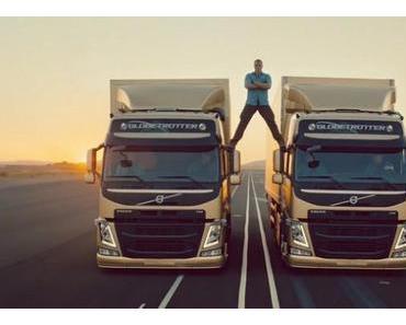 Der legendere Spagat von Jean-Claude Van Damme im Werbespot von Volvo