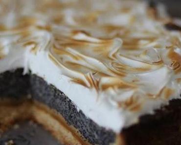 Mohn-Marzipan Kuchen mit Baiser aus dem Lecker Bakery