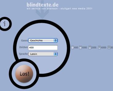 Der Blindtextpoesie-Contest alias Dada 2.0.