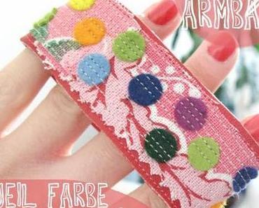 [diy] Konfetti-Armband aus Stoff