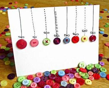 DIY: Knopf-Weihnachtskarte