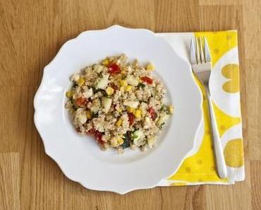 Zitronen Gemüse Quinoa Pfanne mit Fetakäse