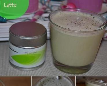 Matcha Vanille Mandelmilch Latte