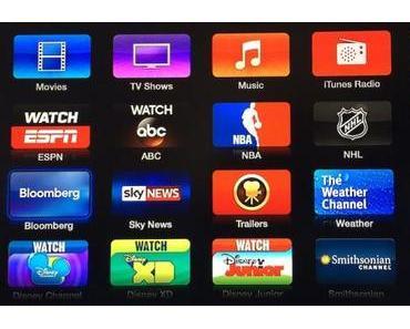 Apple TV erhält neue Kanäle