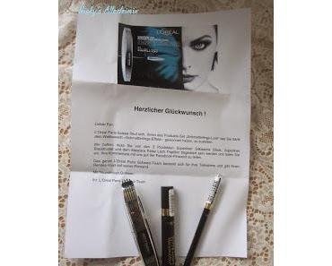 Produktetest vom Gewinn: L'Oreal  Mascara False Lash Papillon - Superliner Silkissime Black - Superliner Blackbuster