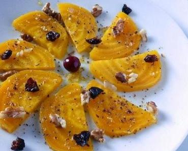 Gelbe Beete mit Mandarinen-Ingwer-Dressing - Auftakt zur Ingwersaison