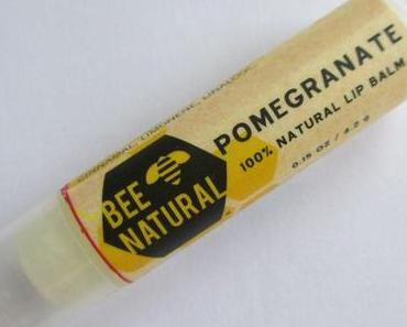 Bee Natural Beeswax Lip Balm Pomegranate