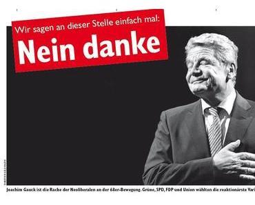"""""""Der Freiheitskämpfer Pastor Gauck, hat den Schafspelz abgelegt"""""""