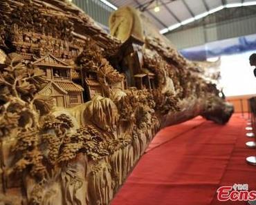 Die weltgrößte Skulptur aus Holz von Chunhui Spent