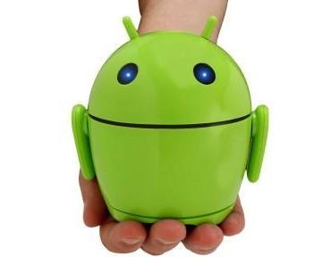 Gadget: GOgroove Android Roboter Lautsprecher für alle Geräte mit Klinke