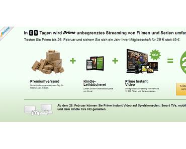 Amazon baut Premiumdienst Prime aus