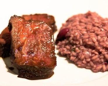 Roastbeef in Whisky-Marinade mit Rotwein-Risotto
