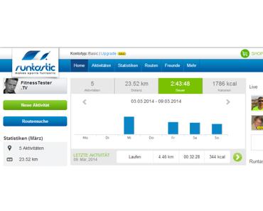 Runtastic Pro Laufen & Fitness App mit Brustgurt Heart Rate Monitor