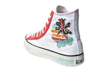 #Converse Schuhe All Star Chucks 104874 Miami Beach Palmen Stickerei