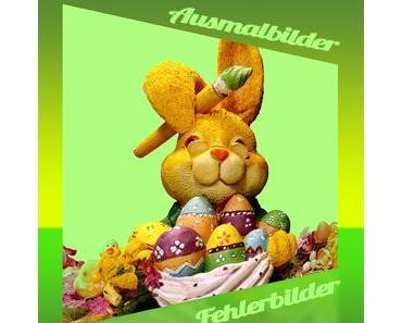 Ausmalbilder und Fehlerbilder für Ostern