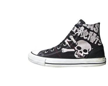 #Converse Schuhe All Star Chucks 113998 The Clash UK Punk (Leder)