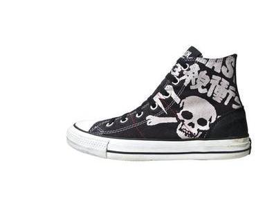 #Converse Schuhe All Star Chucks 113998 The Clash UK Punk (Leder)