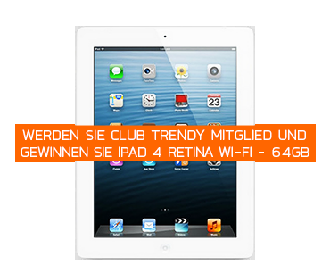 Club Trendy Gewinnspiel April 2014: iPad 4 Retina Wi-Fi