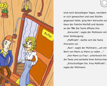 """Innovative App aus Dresden soll E-Book mit interaktivem Suchspiel verbinden - Eine einzigartige Buch-App holt die Erzählung für Kinder """"Meta Morfoß"""" von Peter Hacks auf iPads und Android Tablets."""
