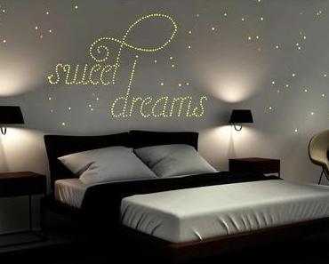 Ich schlafe unter einem Sternenhimmel