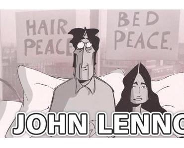 John Lennon und Yoko Ono Interviews als Cartoon (Video)