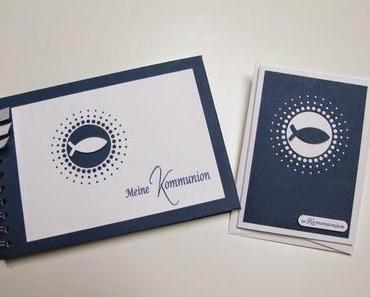 Album und Karte zur Kommunion