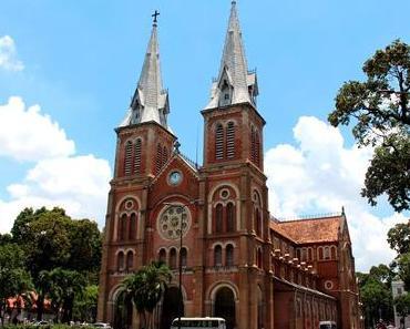 Bekannte alte Strukturen in Saigon (Ho-Chi-Minh-Stadt)
