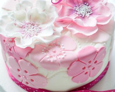 Muttertags Blüten Torte