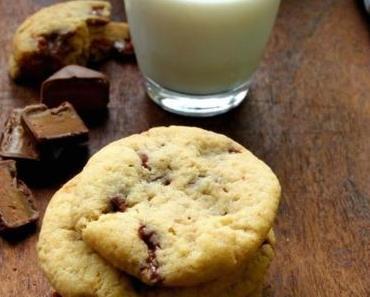 Cookies mit Schokoriegeln