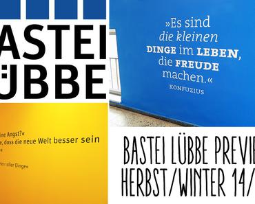 |Unterwegs| Die Bastei Lübbe Preview Herbst/Winter 2014/2015: Die Überraschung #3