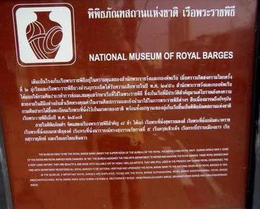 Museum der königlichen Barken in Bangkok – Royal Barge Museum