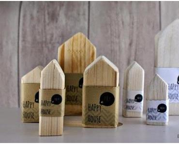 """Füll Dein Lädchen und geh auf den Markt & die """"Happy House"""" - Family aus Holz"""